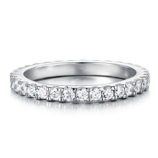 Sterling Silver Eternity Ring Band - Links & Charms