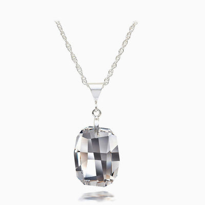 Black Diamond Austrian Crystal Necklace - Links & Charms