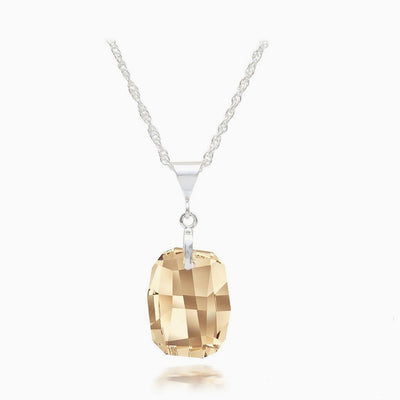 Topaz Austrian Crystal Necklace - Links & Charms