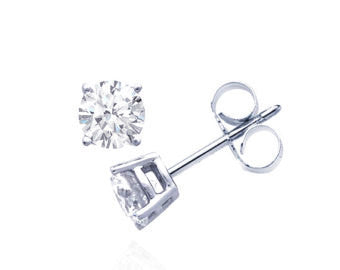 Sterling Silver Classic Stud Earrings - Links & Charms
