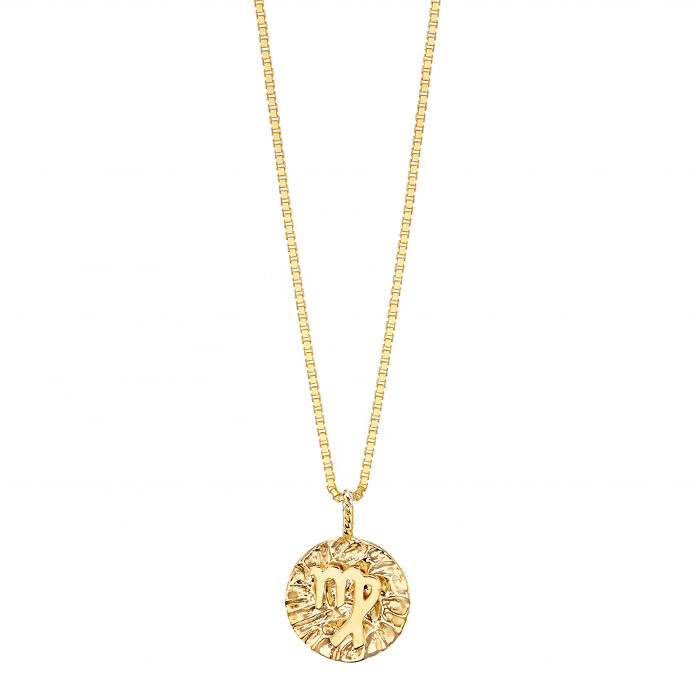 Virgo Gold Coin Necklace