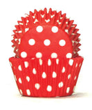 408 POLKADOT RED BAKING CUP