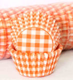 408 GINGHAM - ORANGE PATTY CAKE (500)