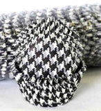 408 HOUNDS TOOTH BLACK PATTY CAKE (500)