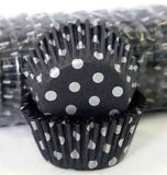 408 POLKA DOTS -SILVER/BLACK PATTY (500)