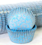 408 HIGH TEA -SILVER/BLUE PATTY (500)