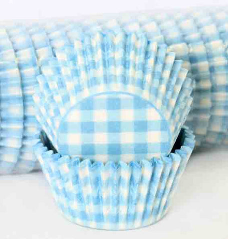 408 GINGHAM  - PASTEL BLUE PATTY (500)