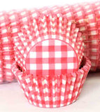 408 GINGHAM  - RED PATTY (500)