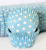 408 POLKA DOTS - PASTEL BLUE PATTY (500)