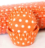 408 POLKA DOTS - ORANGE PATTY (500)