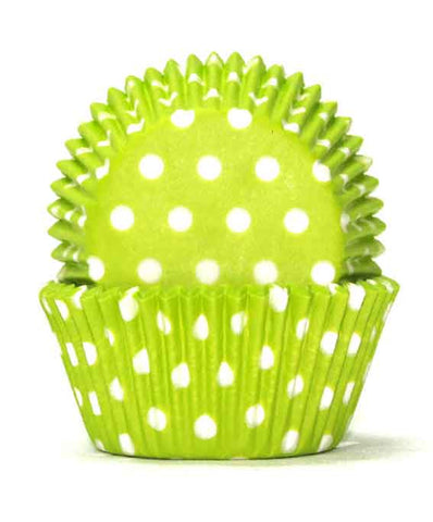700 POLKADOT LIME GREEN B/CUP