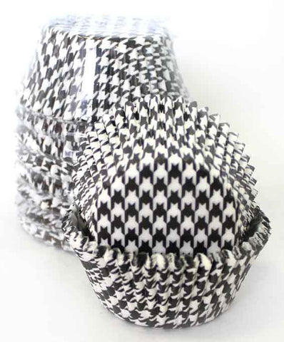 BLACK HOUNDSTOOTH BAKING CUPS SMALL(250)