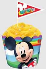 MICKEY MOUSE FLAT BAKING CUP & PICKS