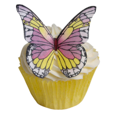 PURPLE & YELLOW WAFER BUTTERFLIES