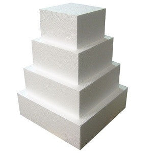 "CAKE DUMMY 9"" SQUARE (3"" THICK)"