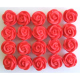 new SMALL SWIRL ROSE (128) RED
