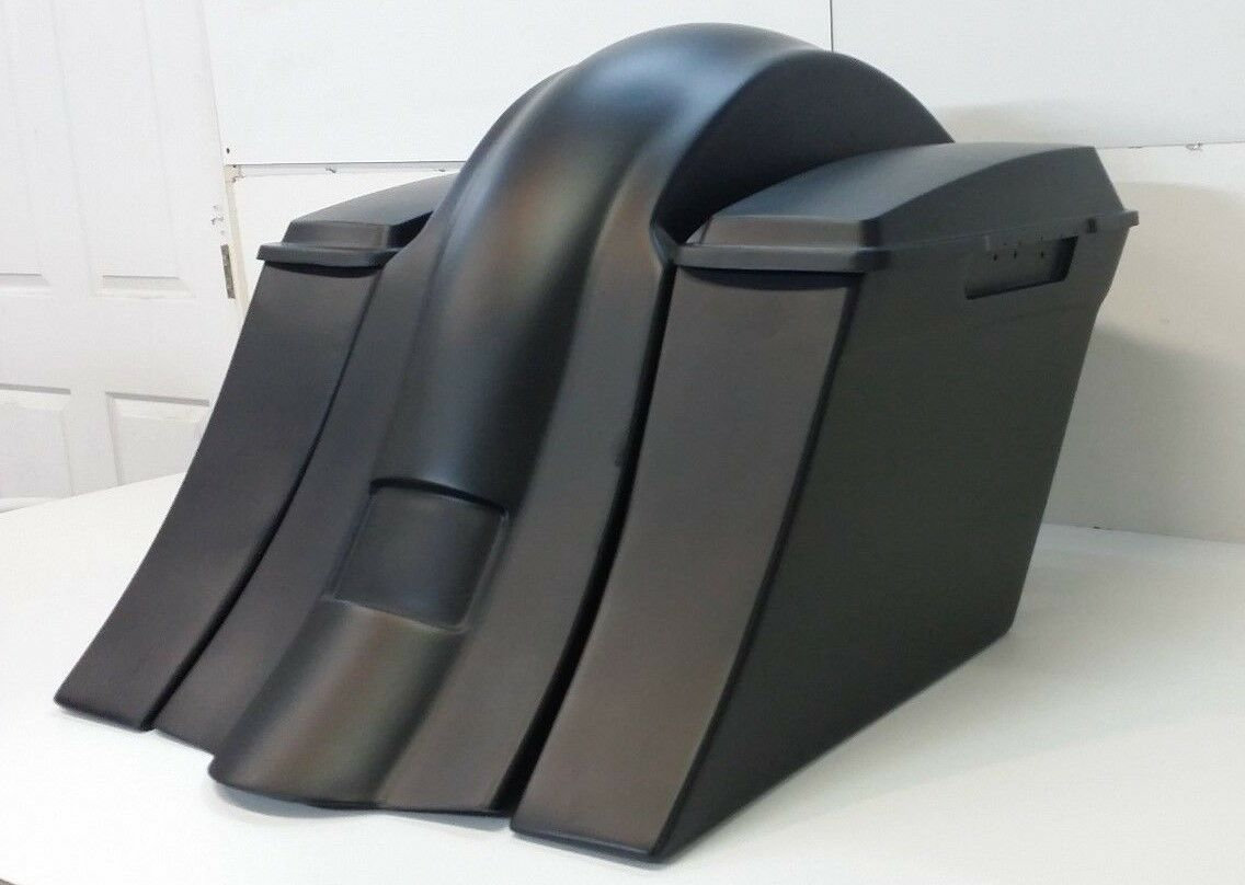 Harley Davidson Softail Drop Back Stretched Extended Saddlebags / fender Deluxe Heritage
