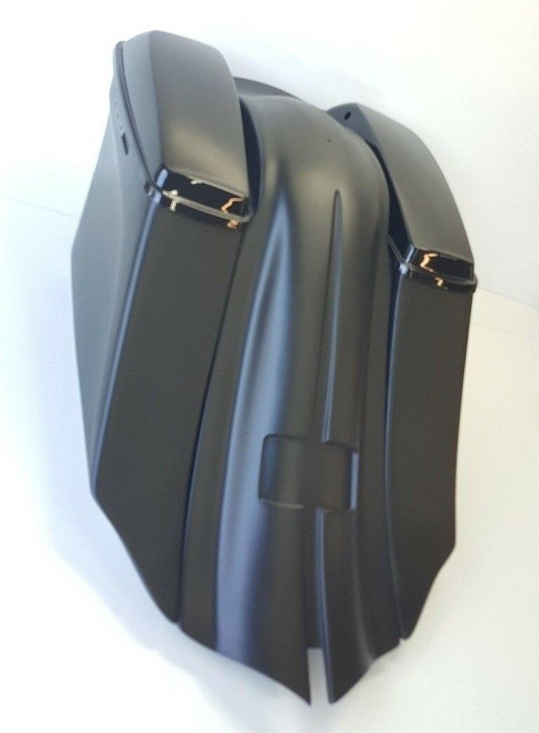 "1997-2008  6"" Drop Back / Fender 14""  Harley Touring Bagger Saddlebags No Lids"
