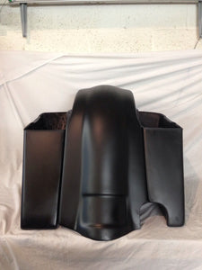 "Harley Davidson Saddlebags Extended 4"" Rear Fender With 2-1  No Lids"