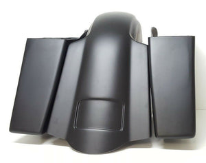 "Copy of 09-13 4"" Stretched saddlebags Replacement Fender No Lids/Exhaust Harley Davidson"