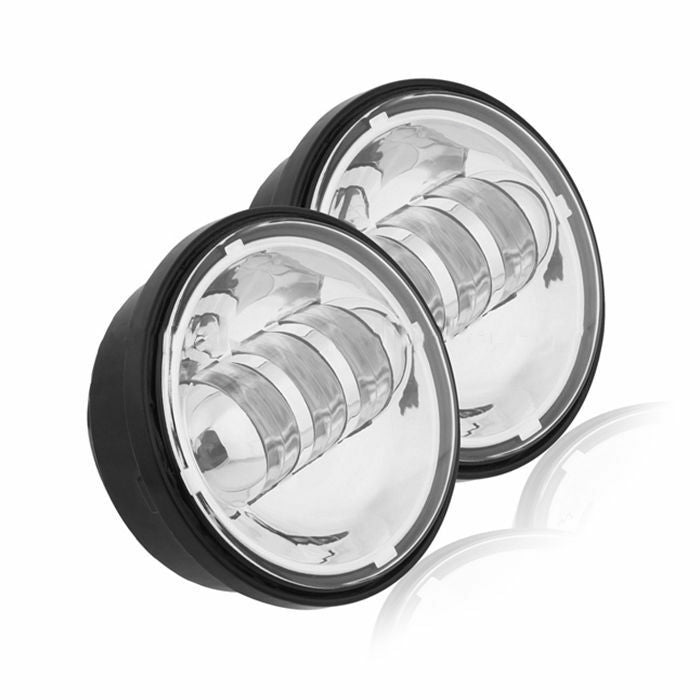 "Harley Davidson Roadking Softail Chrome Led passing 4.5"" Fog Lights Motorcycle"