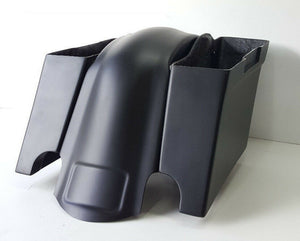 "Harley Davidson 4"" Saddlebags Overlay Fender Dual Cutout Overlay Flh No Lids"