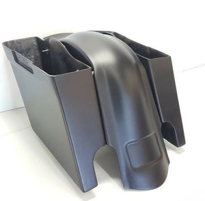 Harley Davidson Stretched Saddlebags  & Rear Fender  Flh 6""