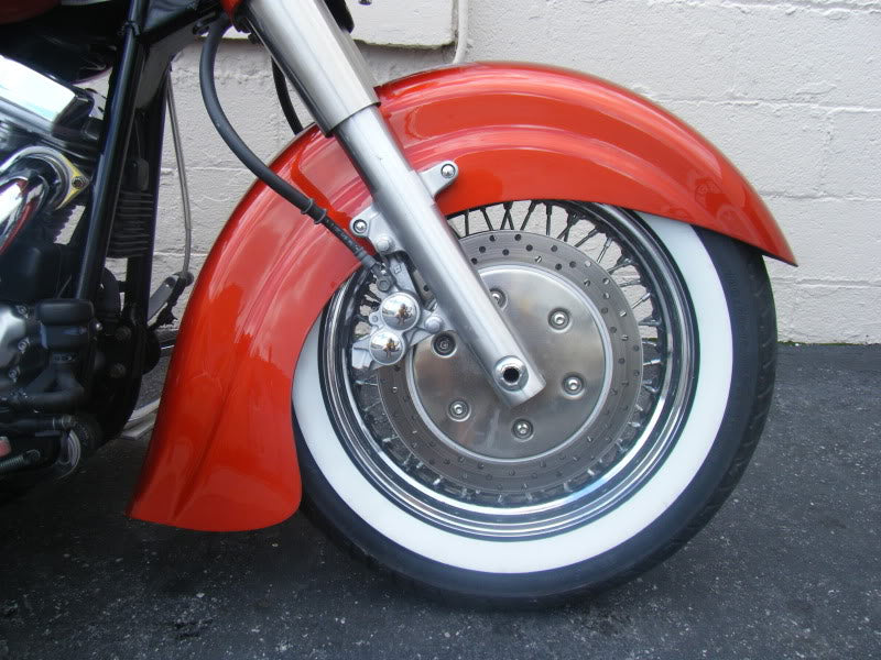 "Harley Davidson Touring Flh Indian Chief Style 21"" Stretched Extended front fender"