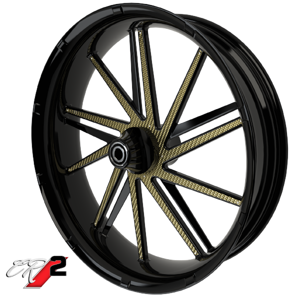 Carbon Series CR 2 Custom Motorcycle Wheels