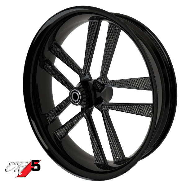 Carbon Series CR 5 Custom Motorcycle Wheels