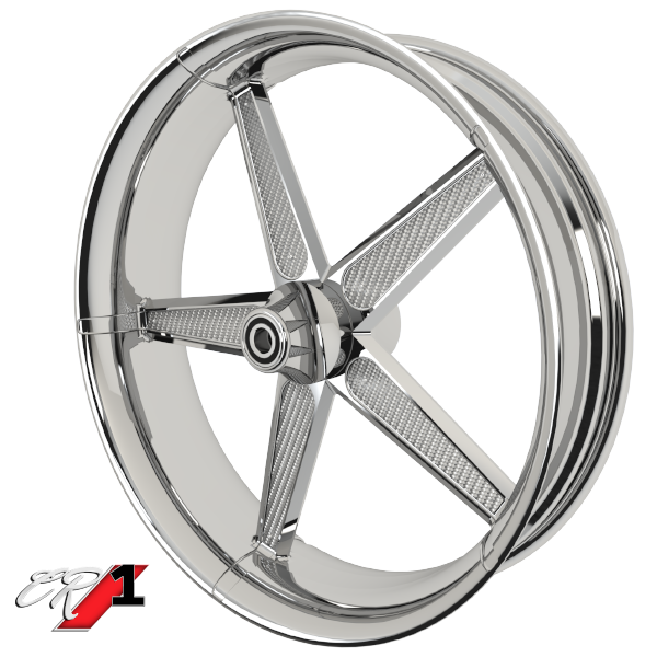 Carbon Series CR 1 Custom Motorcycle Wheels