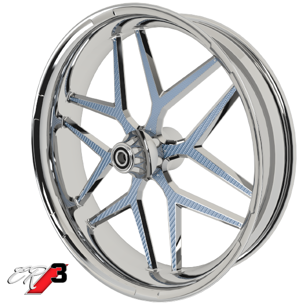 Carbon Series CR 3 Custom Motorcycle Wheels