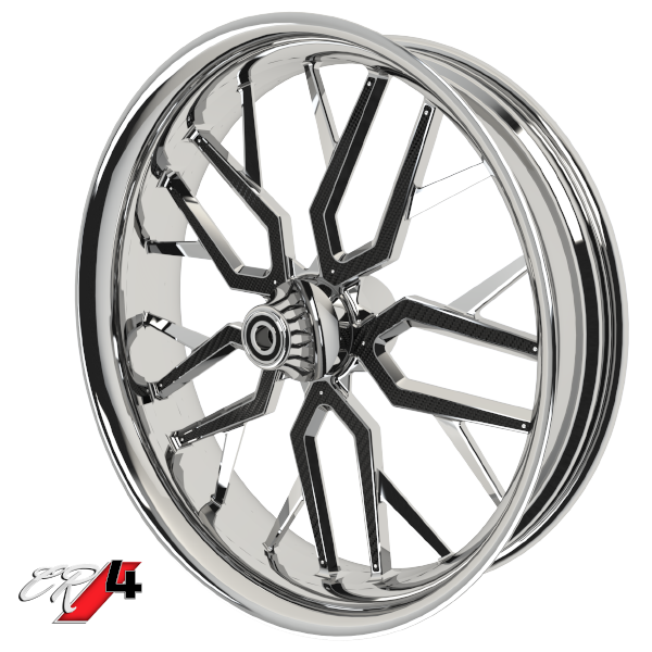 Carbon Series CR 4 Custom Motorcycle Wheels