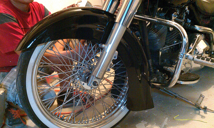 "Harley Davidson Softail Indian Chief Style 21"" Stretched Extended front fender"