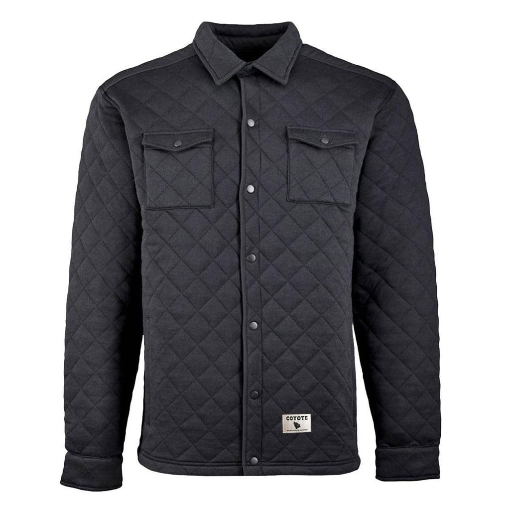 Quilted Shirt Jacket Black