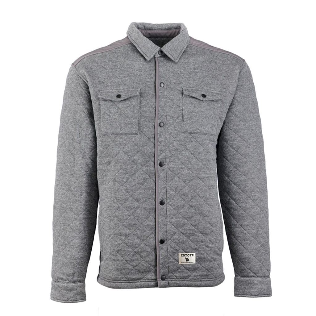 Quilted Shirt Jacket Grey