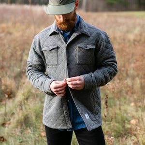 Quilted Shirt Jacket Grey (Pre Order)