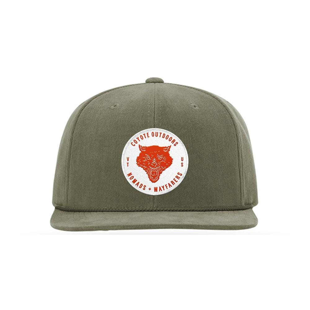 Nomads Corduroy Snapback Olive Coyote Provisions Co