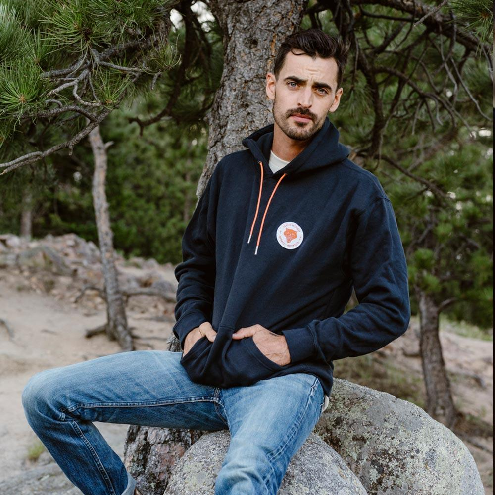 Nomads Patch Heavyweight Premium Hoodie Navy