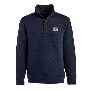 Quilted Snap Pullover Navy sweatshirt Coyote Provisions