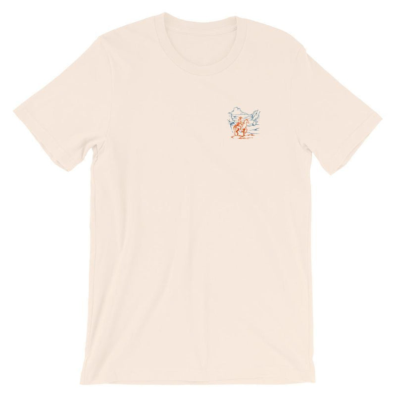Sunset Riders Short-Sleeve Unisex T-Shirt Cream Coyote Provisions Co S