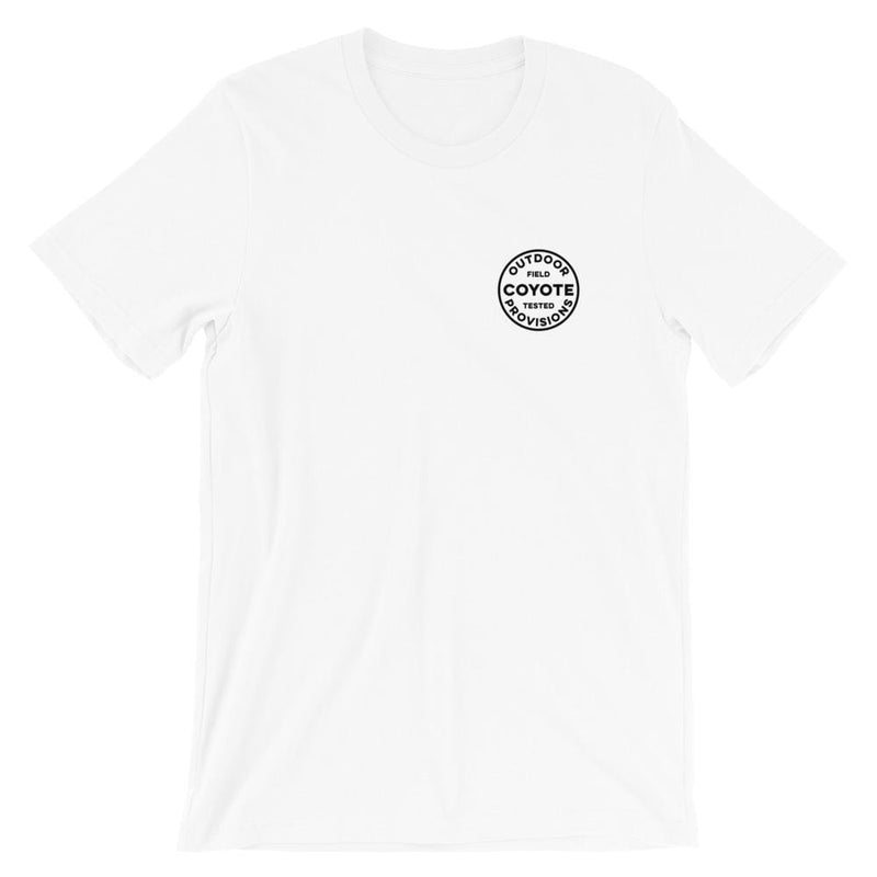 Wayward Ramblers Short-Sleeve T-Shirt Coyote Provisions Co White XS