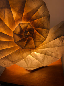 Origami Light Sculpture - Spiral