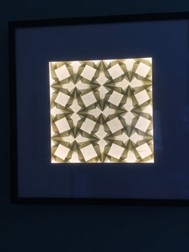 LED Origami Wall Art made with Japanese Paper that Lights Up
