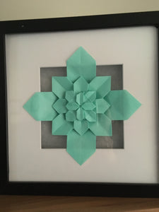 Origami Tessellation and fractal LED Light Frame
