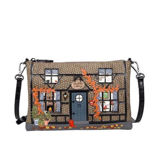 Winter Cottage Pouch Bag