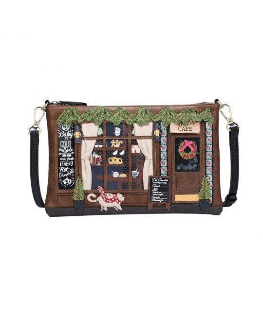 Winter Cafe Pouch Bag