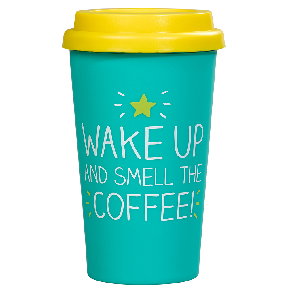 Wake Up And Smell The Coffee Travel Mug
