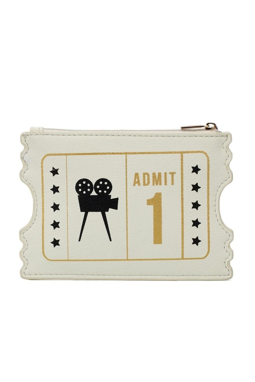 Cinema Ticket Zipper Purse