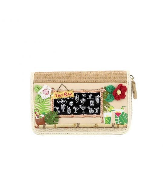 Tiki Bar Medium Zip Around Wallet